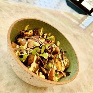 Locally roasted coffee beans St Petersburg FL Kimchi potato hash
